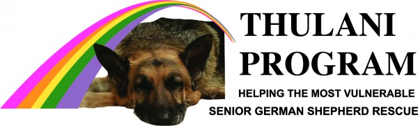 Thulani Senior German Shepherd rescue logo